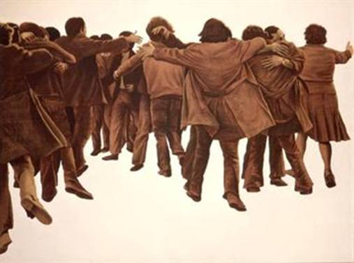 Juan Genoves - El abrazo (1976)